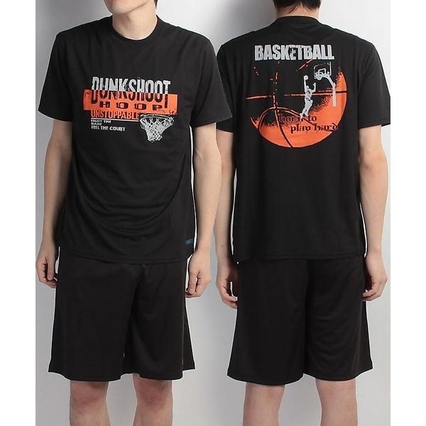 (セール)s.a.gear(エスエーギア)バスケットボール メンズ 半袖Tシャツ 半袖グラフィックTEE DUNKSHOT SA-S17-103-005 メンズ ブラック