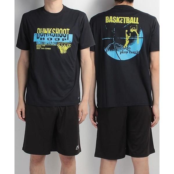 (セール)s.a.gear(エスエーギア)バスケットボール メンズ 半袖Tシャツ 半袖グラフィックTEE DUNKSHOT SA-S17-103-005 メンズ ネイビー