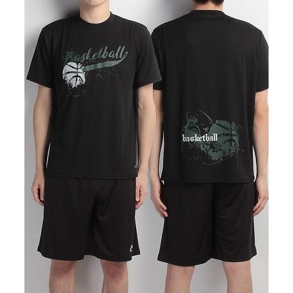 (セール)s.a.gear(エスエーギア)バスケットボール メンズ 半袖Tシャツ 半袖グラフィックTEE BASKET SA-S17-103-007 メンズ ブラック