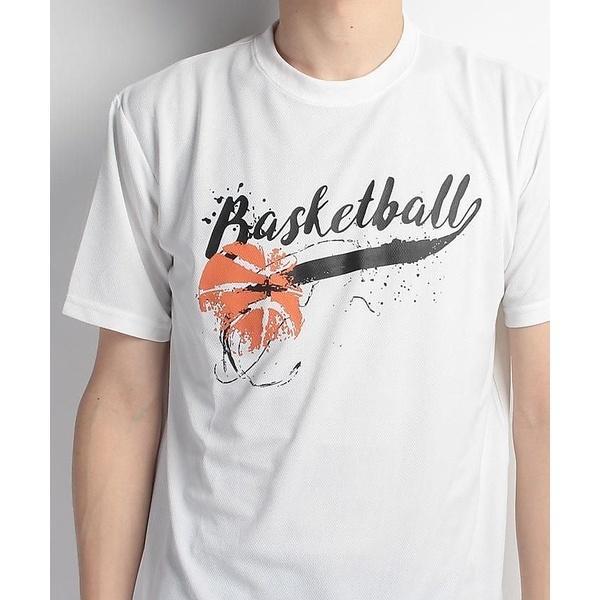 (セール)s.a.gear(エスエーギア)バスケットボール メンズ 半袖Tシャツ 半袖グラフィックTEE BASKET SA-S17-103-007 メンズ ホワイト