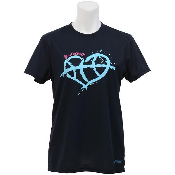 (セール)s.a.gear(エスエーギア)バスケットボール レディース 半袖Tシャツ レディース半袖グラフィックTEE HEART SA-S17-103-016 レディース ネイビー