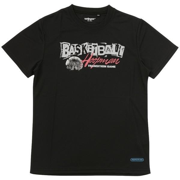 (セール)s.a.gear(エスエーギア)バスケットボール ジュニア 半袖Tシャツ ジュニア半袖グラフィックTEE BASKET-B SA-S17-103-020 ジュニア ブラック