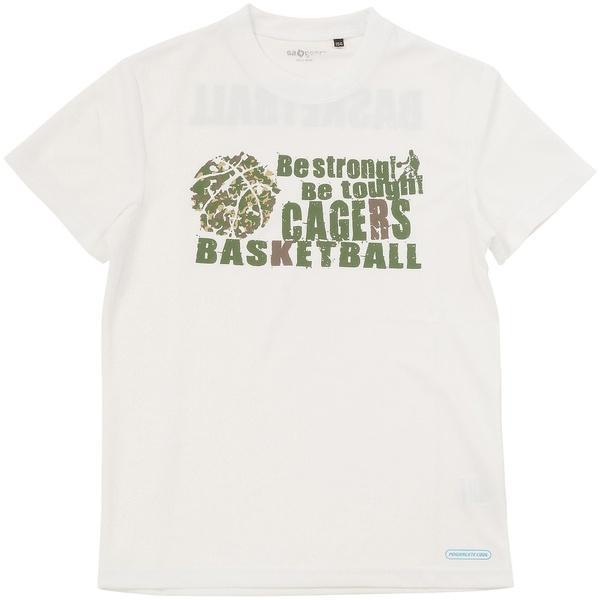 (セール)s.a.gear(エスエーギア)バスケットボール ジュニア 半袖Tシャツ ジュニア半袖グラフィックTEE CAGERS SA-S17-103-021 ジュニア ホワイト