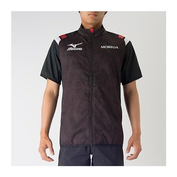 (送料無料)MIZUNO(ミズノ)サッカー ウインド MOテックベントシャツSS P2MC700209 ブラック