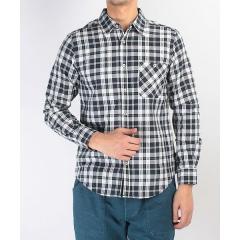 (セール)Alpine DESIGN(アルパインデザイン)トレッキング アウトドア 長袖シャツ 長袖チェックシャツ ADC-S17-401-053 NVY メンズ ネイビー