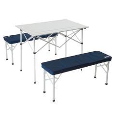 (送料無料)Alpine DESIGN(アルパインデザイン)キャンプ用品 キッチンテーブル 一体型テーブル 2WAY テーブルベンチセット AD-S17-402-038