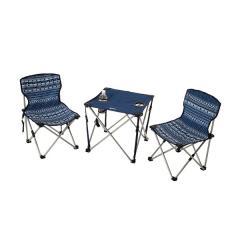(セール)Alpine DESIGN(アルパインデザイン)キャンプ用品 キッチンテーブル 一体型テーブル アクションテーブル&チェア セットミニ AD-S17-402-039 幾何学柄