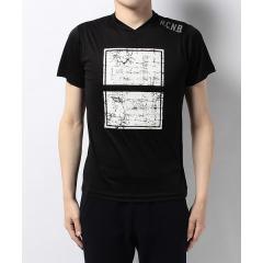 (セール)Number(ナンバー)ランニング メンズ半袖Tシャツ メンズ半袖VネックTシャツ NB-S17-302-057 メンズ ブラック