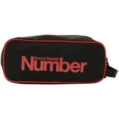 Number(ナンバー)サッカー シューズアクセサリー シューズケース NB-Y17-102-002 FREE ブラック/レッド