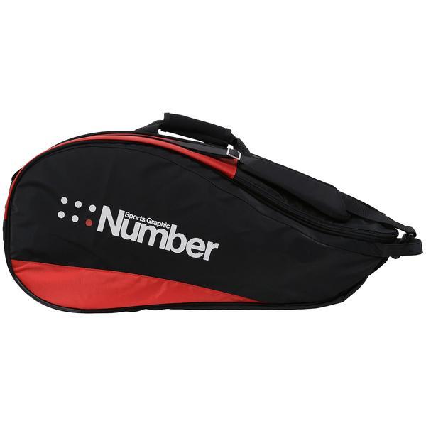 (セール)Number(ナンバー)ラケットスポーツ バッグ ケース類 9本入りラケットケース NB-Y17-201-008 ブラック/レッド