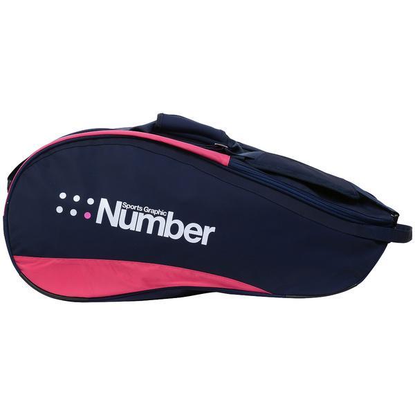 (セール)Number(ナンバー)ラケットスポーツ バッグ ケース類 9本入りラケットケース NB-Y17-201-008 ネイビー/ピンク