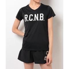 (セール)Number(ナンバー)ランニング レディース半袖Tシャツ レディース R.C.N.B. ベーシック RUN VネックTシャツ NB-S17-302-076 レディース ブラック