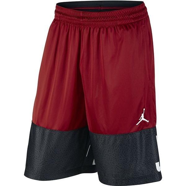 (セール)NIKE(ナイキ)バスケットボール メンズ プラクティスショーツ ジョーダン クラシック AJ ブロックアウト ショート 831338-687 メンズ ジムレッド/ブラック/(ホワイト)