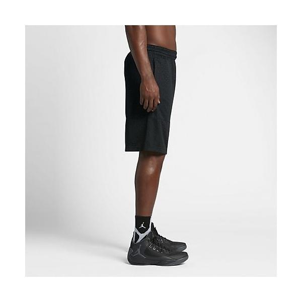 (セール)NIKE(ナイキ)バスケットボール メンズ プラクティスショーツ ジョーダン エリート ブロックアウト ショート 831372-010 メンズ ブラック/ブラック/(ブラック)
