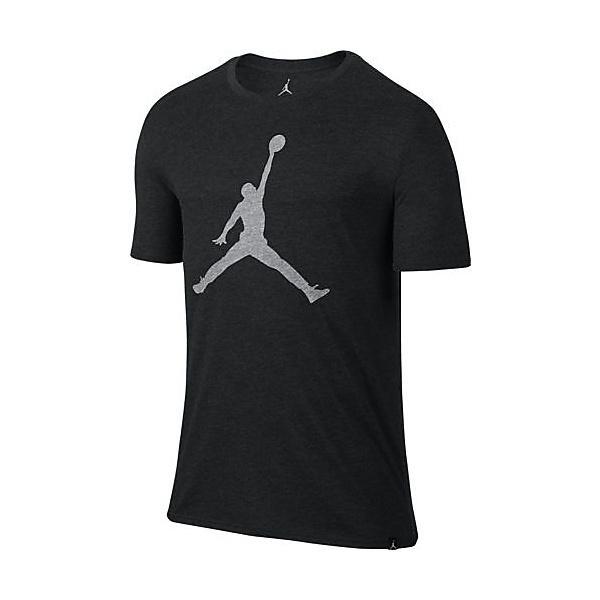 (セール)NIKE(ナイキ)バスケットボール メンズ 半袖Tシャツ ジョーダン ICONIC ジャンプマン S/S Tシャツ 834473-032 メンズ ブラックヘザー/(ホワイト)