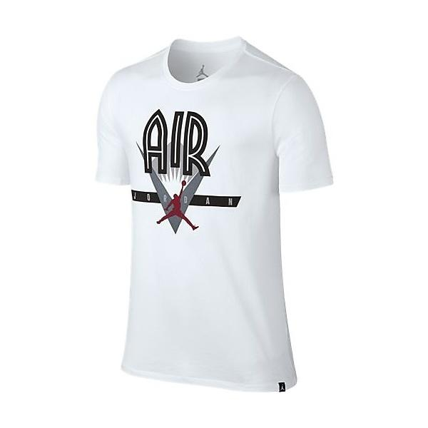 (セール)NIKE(ナイキ)バスケットボール メンズ 半袖Tシャツ ジョーダン ヴィンテージ S/S Tシャツ 834480-100 メンズ ホワイト/(ジムレッド)