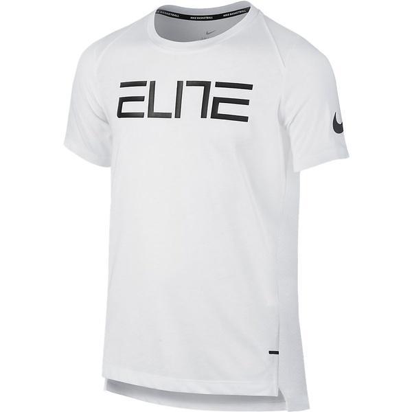 (セール)NIKE(ナイキ)バスケットボール ジュニア 半袖Tシャツ ナイキ YTH エリート シューター S/S トップ 832515-100 ボーイズ ホワイト
