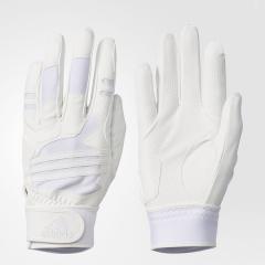 (セール)adidas(アディダス)野球 大人 両手用 5T バッティンググローブ DMU59 BS1263 メンズ ホワイト/ホワイト