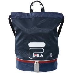 (セール)FILA(フィラ) スイミング プールバック 巻きタオル FILA二重底バッグ 127531 ジュニア F NV