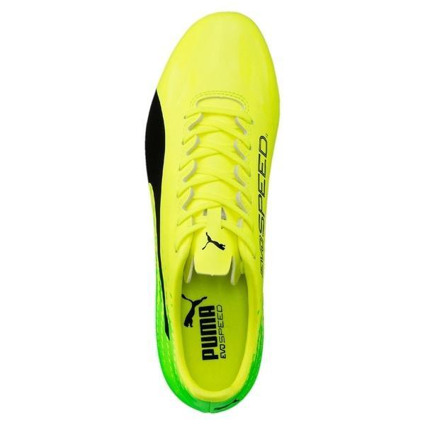 (セール)(送料無料)PUMA(プーマ)サッカー スパイク エヴォスピード 17.4 HG 10401901 メンズ セーフティ イエロー/ブラック/グリーン ゲッコ