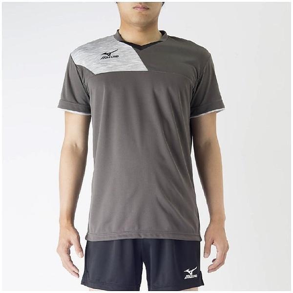 (セール)MIZUNO(ミズノ)バレーボール 半袖プラクティスシャツ プラクティスシャツ V2MA708208 ダークガルグレーXベイパーシルバー