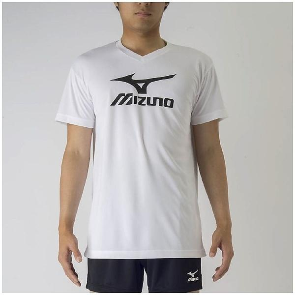 (セール)MIZUNO(ミズノ)バレーボール 半袖プラクティスシャツ プラクティスシャツ V2MA708770 ホワイトXブラック