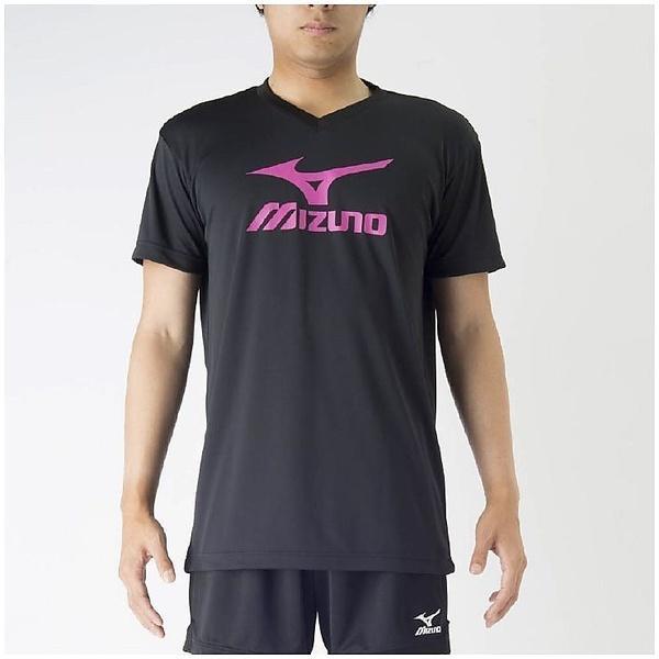 (セール)MIZUNO(ミズノ)バレーボール 半袖プラクティスシャツ プラクティスシャツ V2MA708797 ブラックXベリーピンク
