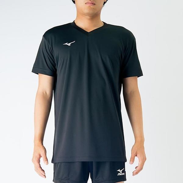 (セール)MIZUNO(ミズノ)バレーボール ジュニア半袖プラクティスシャツ プラクティスシャツ V2MA708809 ジュニア ブラック