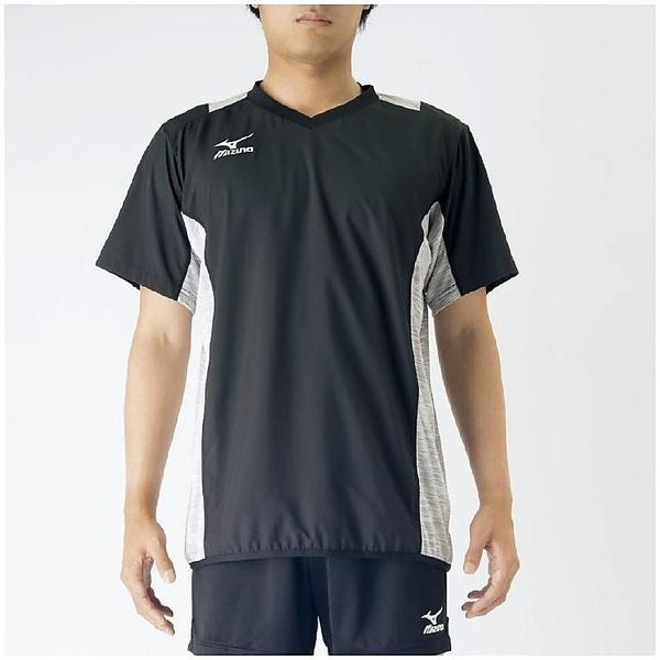MIZUNO(ミズノ)バレーボール ウェア ブレーカーシャツ V2MC700290 ブラックXベイパーシルバー