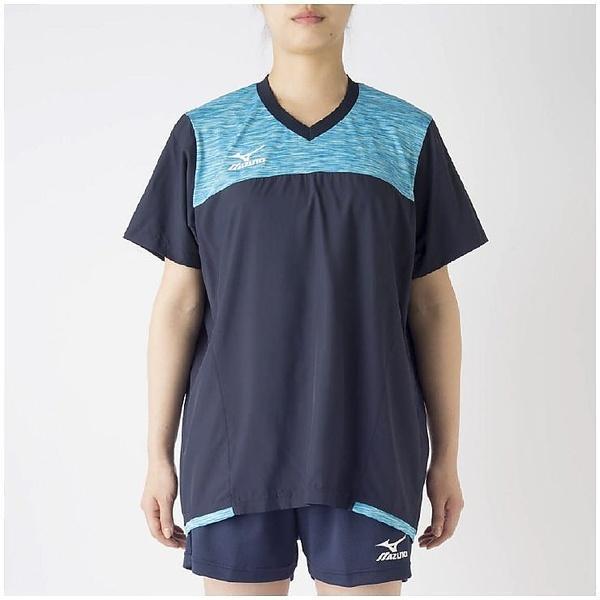 (セール)MIZUNO(ミズノ)バレーボール ウェア ブレーカーシャツ V2MC720214 レディース ドレスネイビーXアトミックブルー
