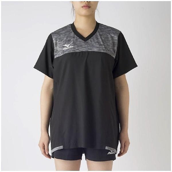 MIZUNO(ミズノ)バレーボール ウェア ブレーカーシャツ V2MC720290 レディース ブラックXガルグレー