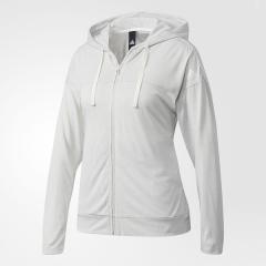 (セール)adidas(アディダス)レディーススポーツウェア ウォームアップジャケット W ID ライトヘザーフルジップパーカー DMW46 BQ6609 レディース ホワイト/ホワイト