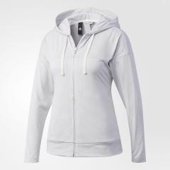 (セール)adidas(アディダス)レディーススポーツウェア ウォームアップジャケット W ID ライトヘザーフルジップパーカー DMW46 BQ6610 レディース ミディアムグレイヘザー/MGH ソリッドグレー