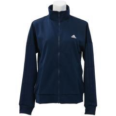 adidas(アディダス)レディーススポーツウェア ウォームアップジャケット W 3本線ジャージジャケット DJH23 BQ6725 レディース カレッジネイビー/ホワイト