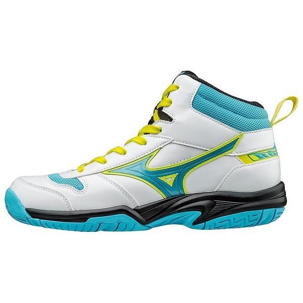 (送料無料)MIZUNO(ミズノ)バスケットボール ジュニア シューズ ルーキー BB4 W1GC177025 ジュニア ホワイトxライトブルーxイエロー