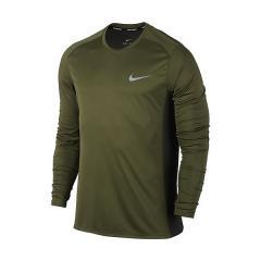 (セール)NIKE(ナイキ)ランニング メンズ長袖Tシャツ ナイキ DRI-FIT マイラー L/S トップ 833594-331 メンズ リージョングリーン/セコイア/(リフレクティブシルバー)