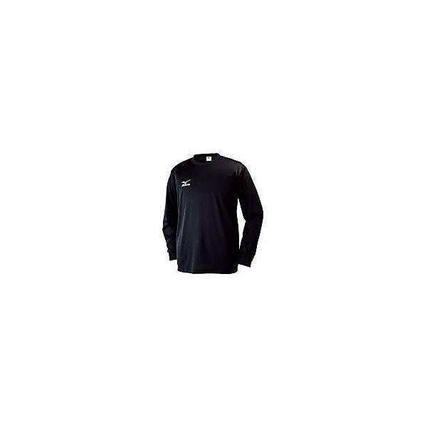 MIZUNO(ミズノ)バレーボール 長袖Tシャツ Tシャツ長袖(NAVIドライ/MEN'S) 32JA613009 09 ブラックxホワイト