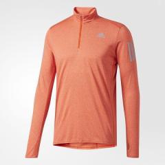 adidas(アディダス)ランニング メンズ長袖Tシャツ RESPONSE ハーフジップ長袖TシャツM BUF44 B47698 メンズ エナジー S17