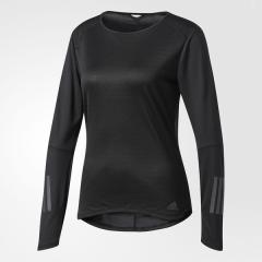 (セール)adidas(アディダス)ランニング レディース長袖Tシャツ RESPONSE 長袖TシャツW NDX89 BP7441 レディース ブラック