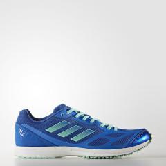 (セール)adidas(アディダス)ランニング メンズチャレンジランナーシューズ ADIZERO FEATHER RK 2 CDA57 BY2455 ブルー/イージーグリーン S17/ランニングホワイト