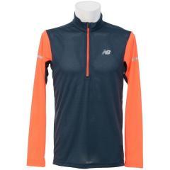 (セール)New Balance(ニューバランス)ランニング メンズ長袖Tシャツ アクセレレイトハーフジップロングスリーブ JMTR7108 AO メンズ アルファオレンジ