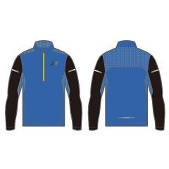 (セール)New Balance(ニューバランス)ランニング メンズ長袖Tシャツ アクセレレイトハーフジップロングスリーブ JMTR7108 ELB メンズ エレクトリックブルー