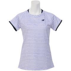 faefe02e6665 ニューバランス テニス バドミントン レディース半袖シャツ 長袖シャツ レイヤード風ゲームシャツ J..