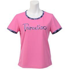 パラディーゾ テニス バドミントン レディースTシャツ レディース半袖プラクティスシャツ FCL26A レディース PK