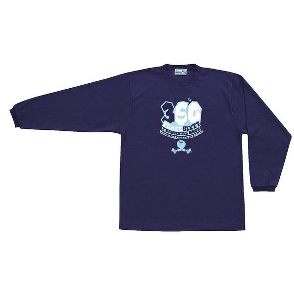 (セール)TEAMFIVE(チームファイブ)バスケットボール メンズ 長袖Tシャツ TEAMFIVE ロンシャツ AL-51「360!」 スポーツオーソリティオリジナルカラー AL-5101MS ネイビー