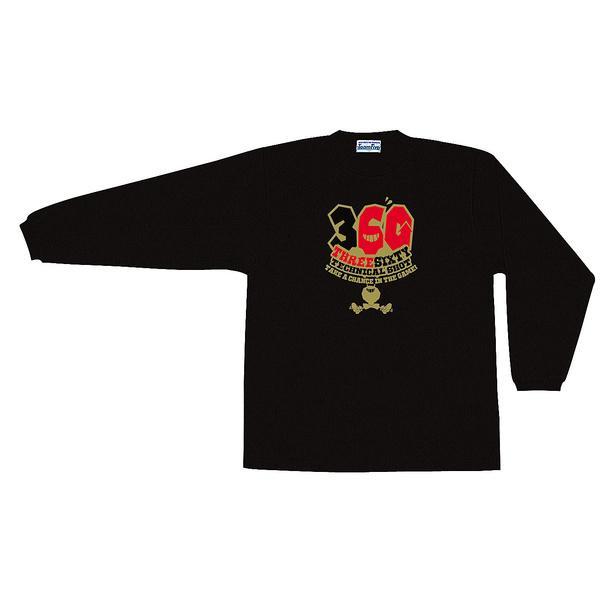(セール)TEAMFIVE(チームファイブ)バスケットボール メンズ 長袖Tシャツ TEAMFIVE ロンシャツ AL-51「360!」 スポーツオーソリティオリジナルカラー AL-5107MS ブラック