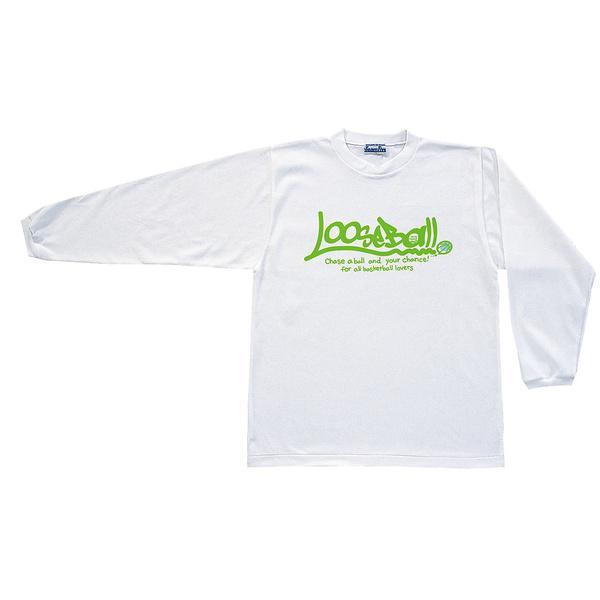(セール)TEAMFIVE(チームファイブ)バスケットボール メンズ 長袖Tシャツ TEAMFIVE ロンシャツ AL-55「ルーズボール!」 スポーツオーソリティオリジナルカラー AL-5508MS ホワイト