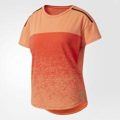 adidas(アディダス)テニス バドミントン レディースTシャツ WOMENS CLUB グラデーションプリント Tシャツ BXI04 S98981 レディース エナジー S17