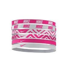 (セール)NIKE(ナイキ)スポーツアクセサリー アパレル雑貨 ナイキ プリント ヘッドバンド 6本入り BN2017 911 F ビビッドピンク/ホワイト