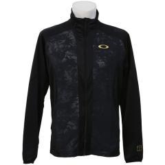 <LOHACO> (セール)OAKLEY(オークリー)メンズスポーツウェア ウォームアップジャケット ENHANCE TECHNICAL JERSEY JACKET 7.0 412363JP-061 メンズ BLACK/GOLD画像